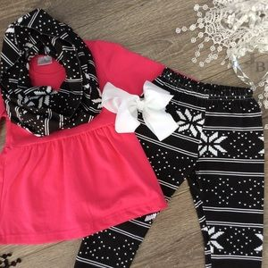 Matching Sets - Boutique Girls 4pc Outfit